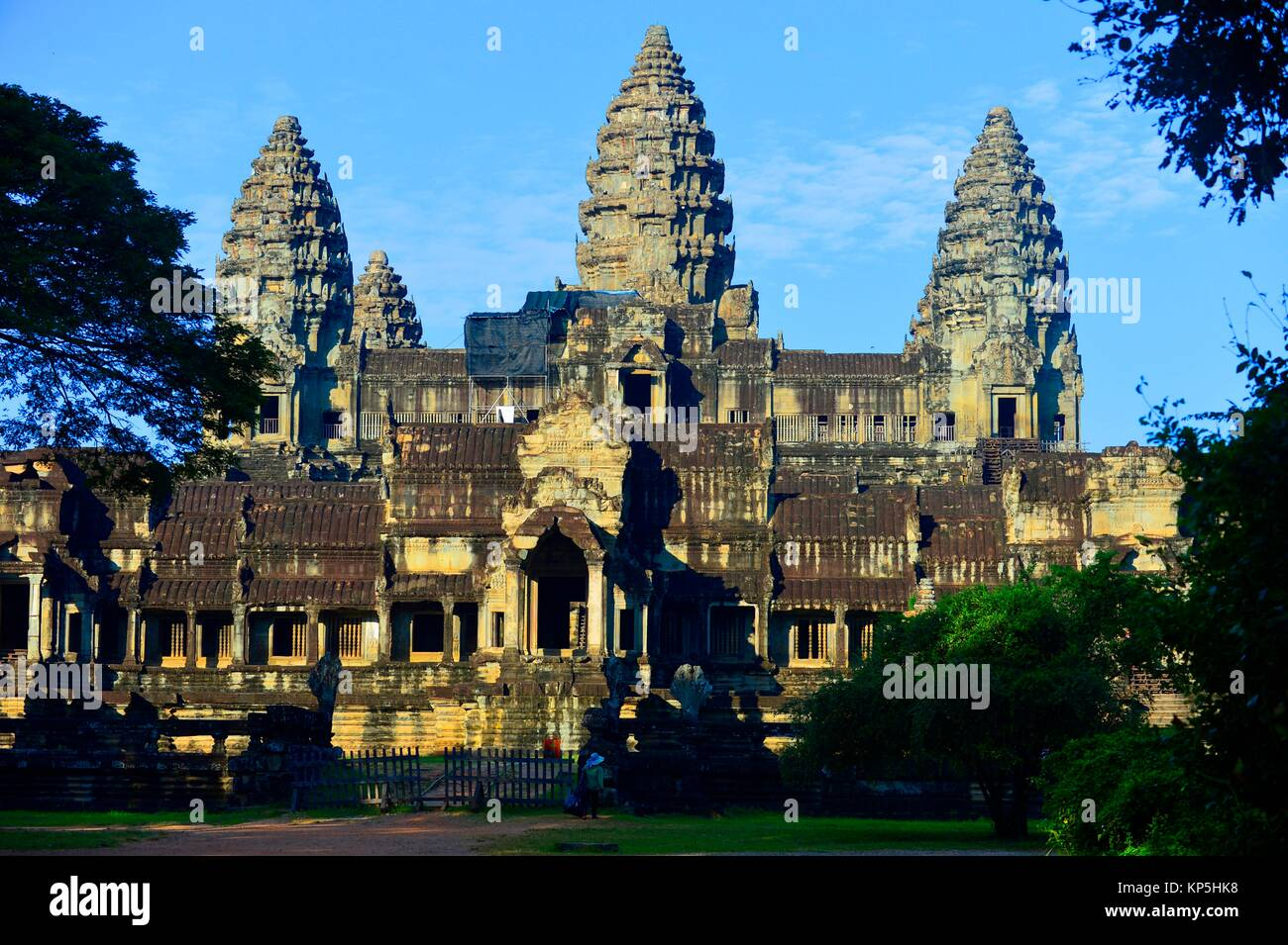 Angkor Wat temple,Siem Reap,Cambodia,Indochina,Southeast Asia,Asia. - Stock Image
