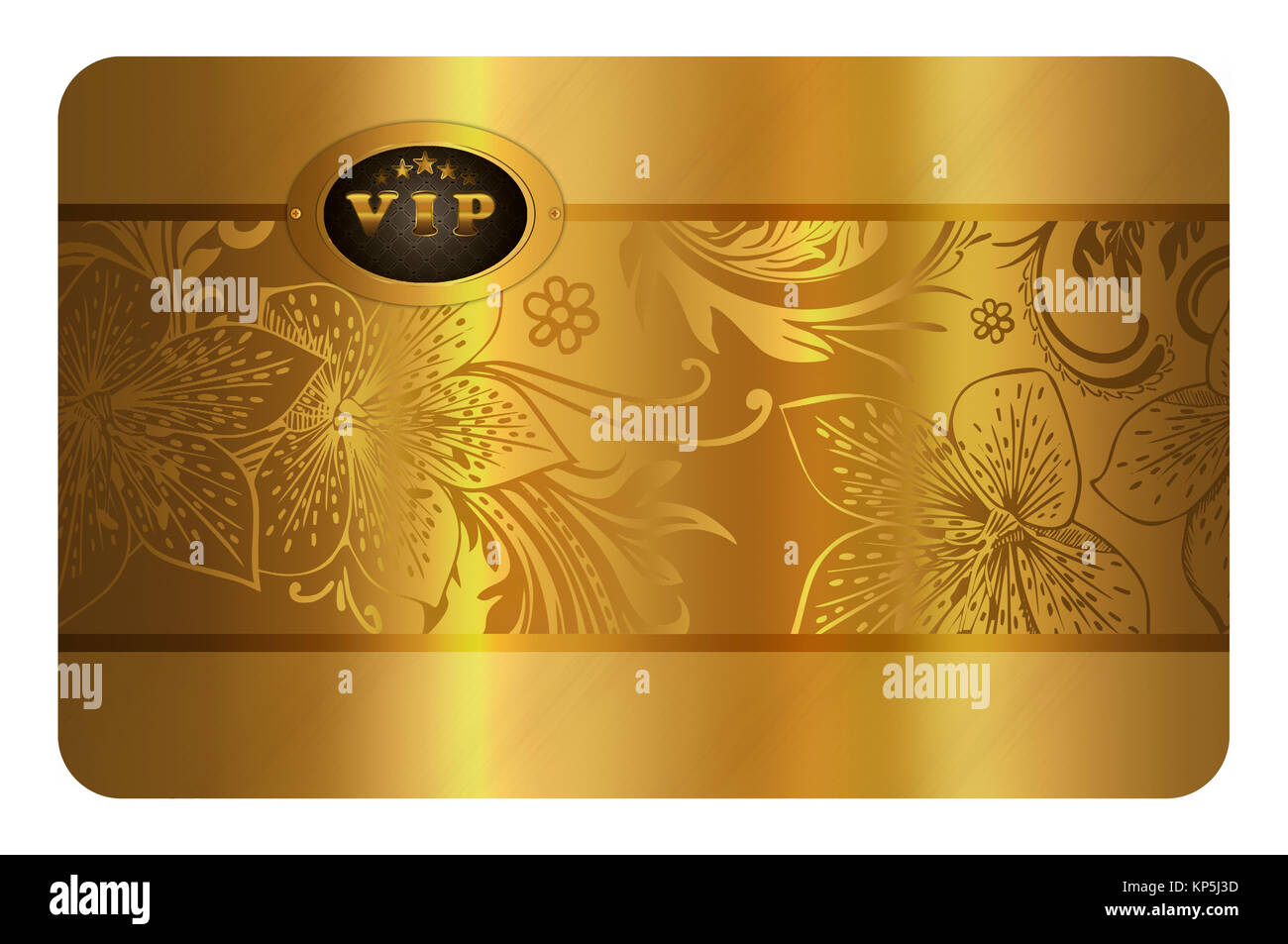 Gold Business Card Template Gold Floral Background For The Design Of Stock Photo Alamy