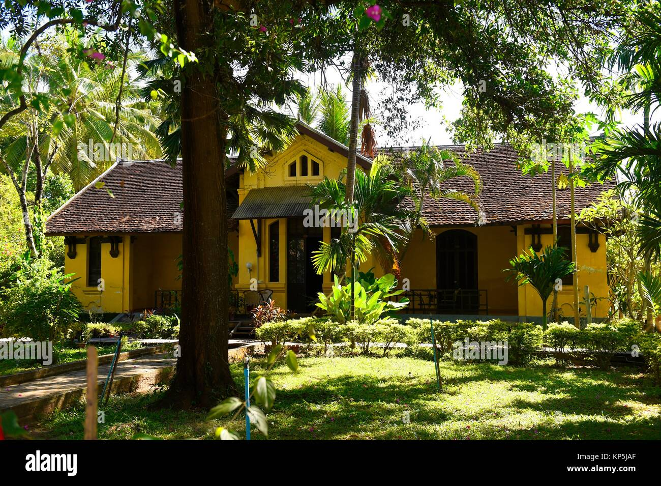 Colonial House In Don Khone IslandProvince Of ChampassakSouth LaosSoutheast Asia