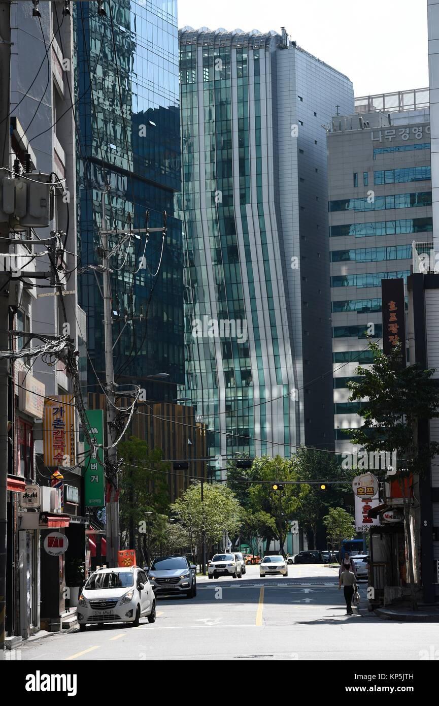 Sreet of Seoul,South Korea. - Stock Image