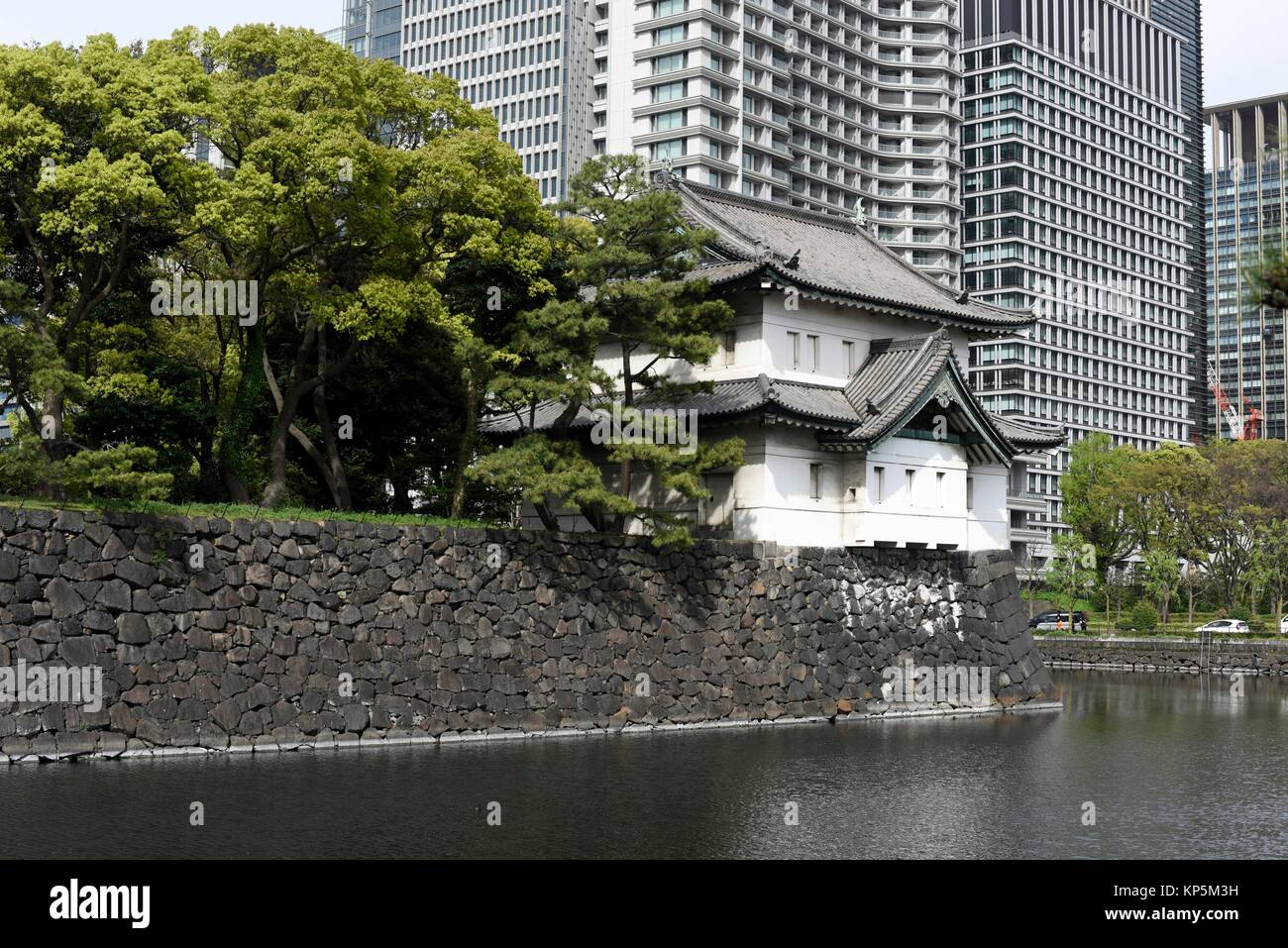 Tokyo Imperial Palace of Japan,Asia. - Stock Image