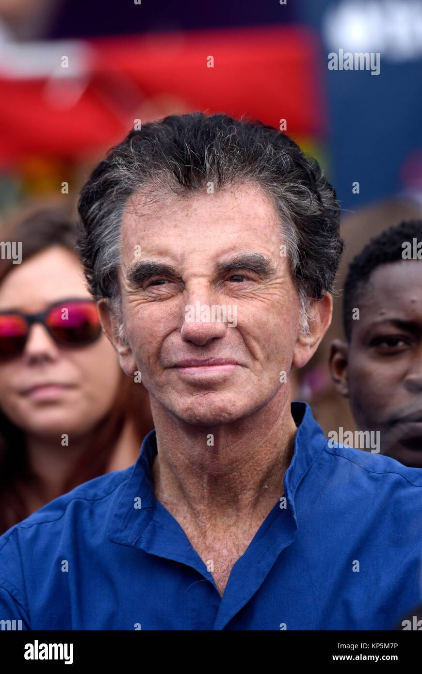 Portrait of Jack Lang, a French politician, member of the Socialist Party,he served as France's Minister of - Stock Image
