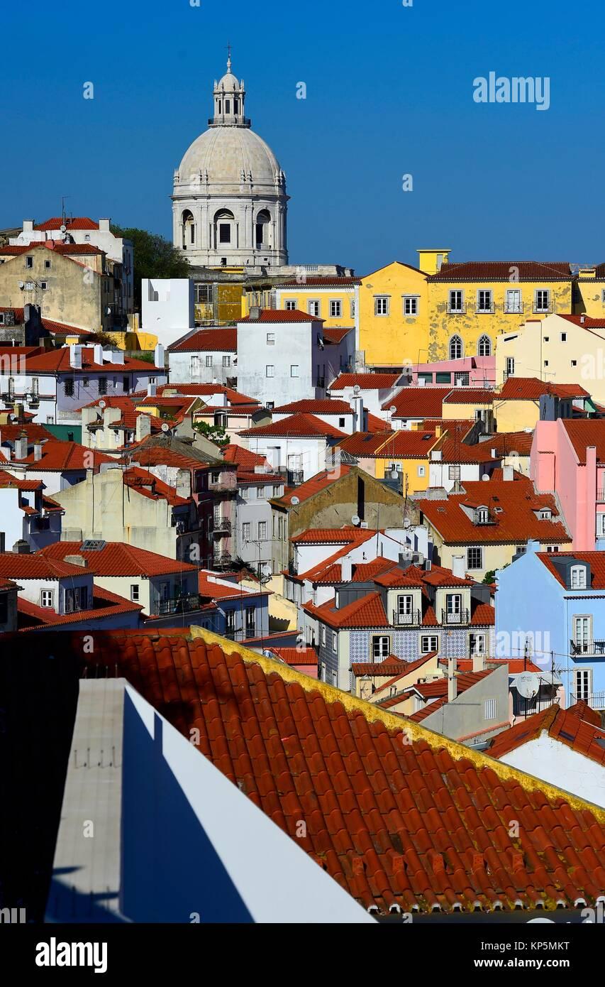 Portugal cityscape in the Alfama district. Stock Photo