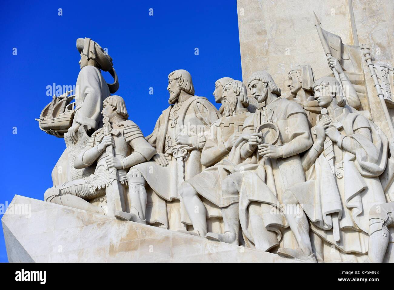Monument to the Discoveries, Belem, Lisbon, Portugal. - Stock Image