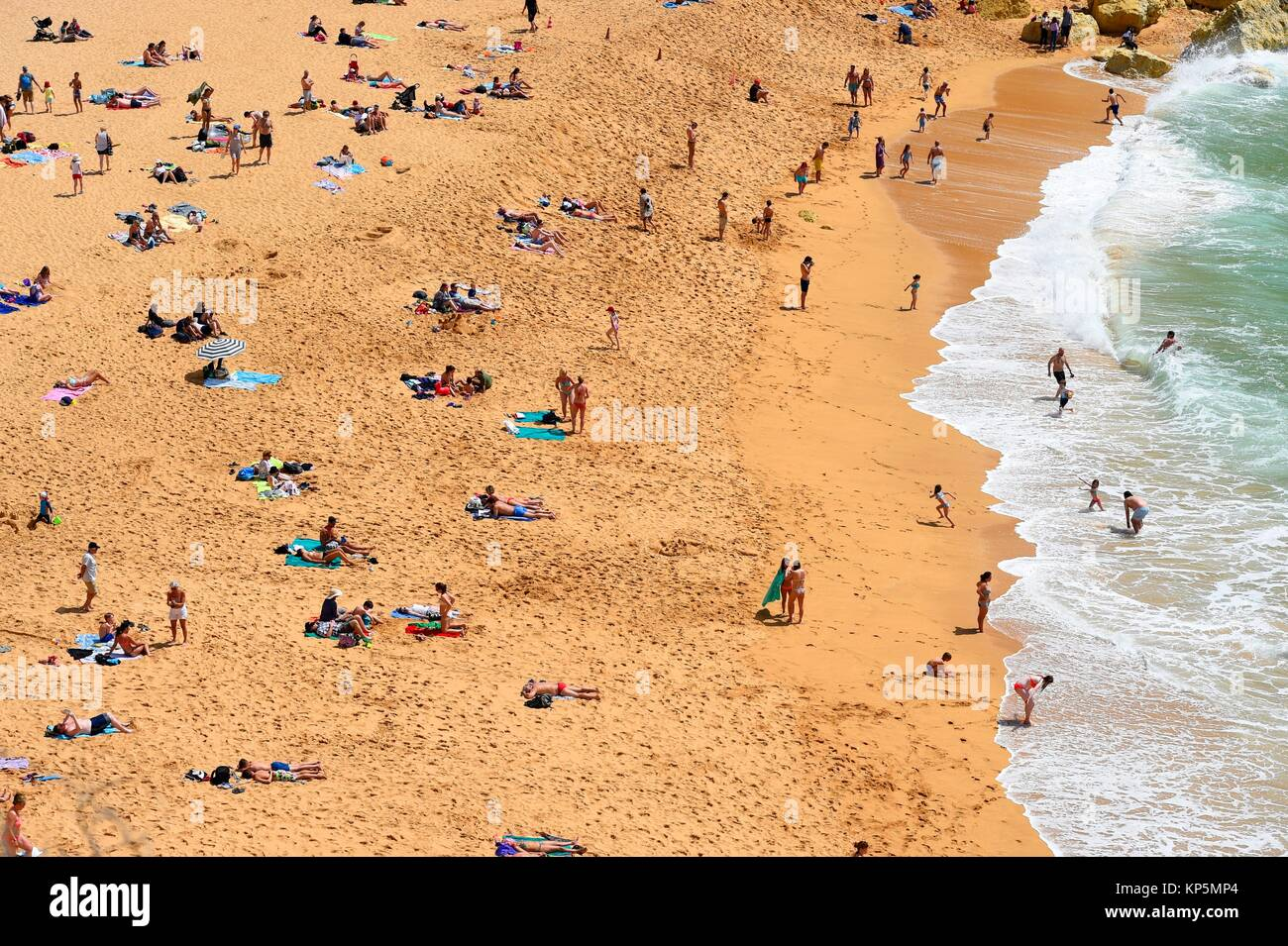 A view of Carvoeiro beach, Algarve, Portugal. Stock Photo