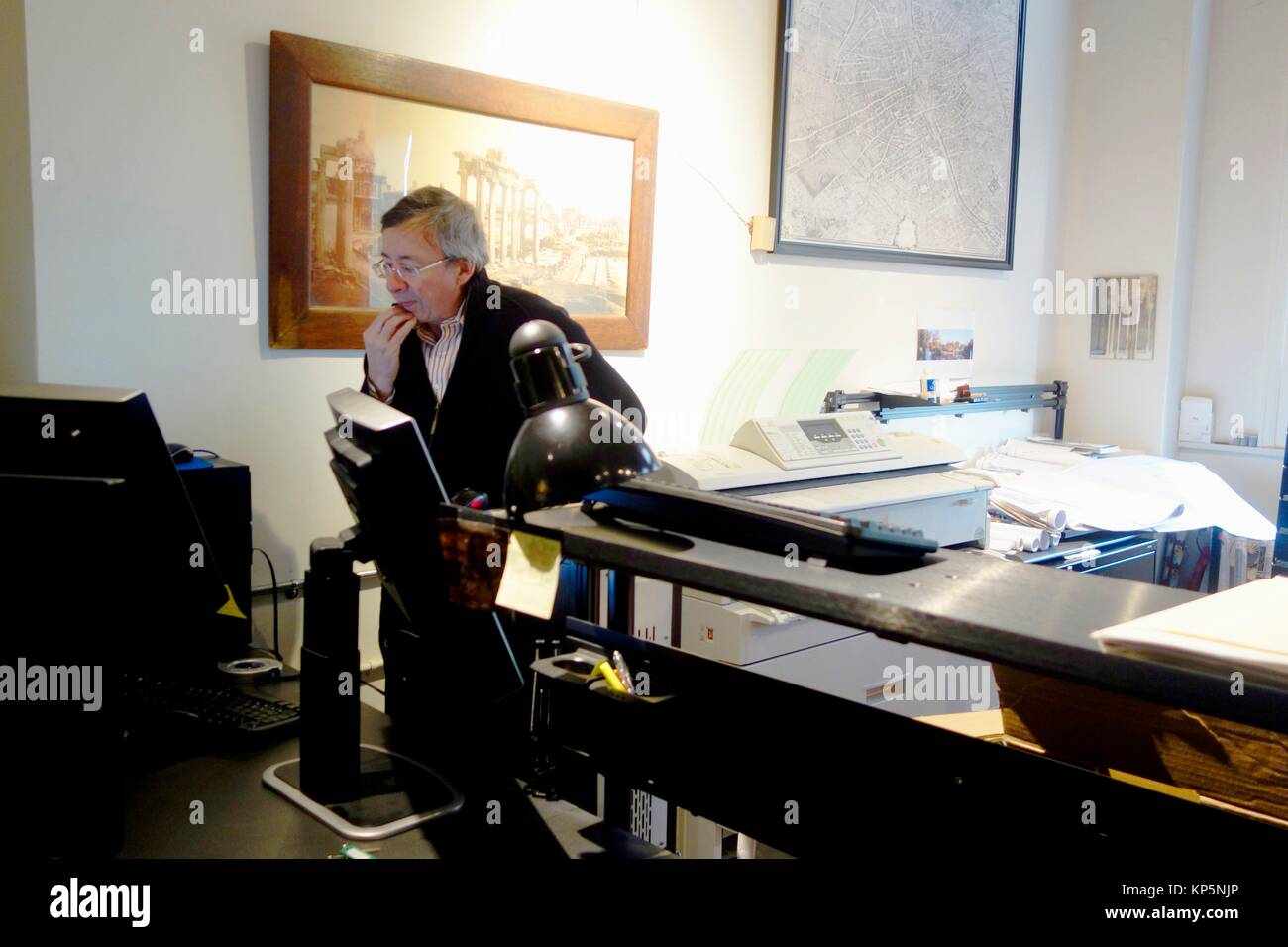 Architect Working in Office, Boston, Massachusetts, USA. - Stock Image