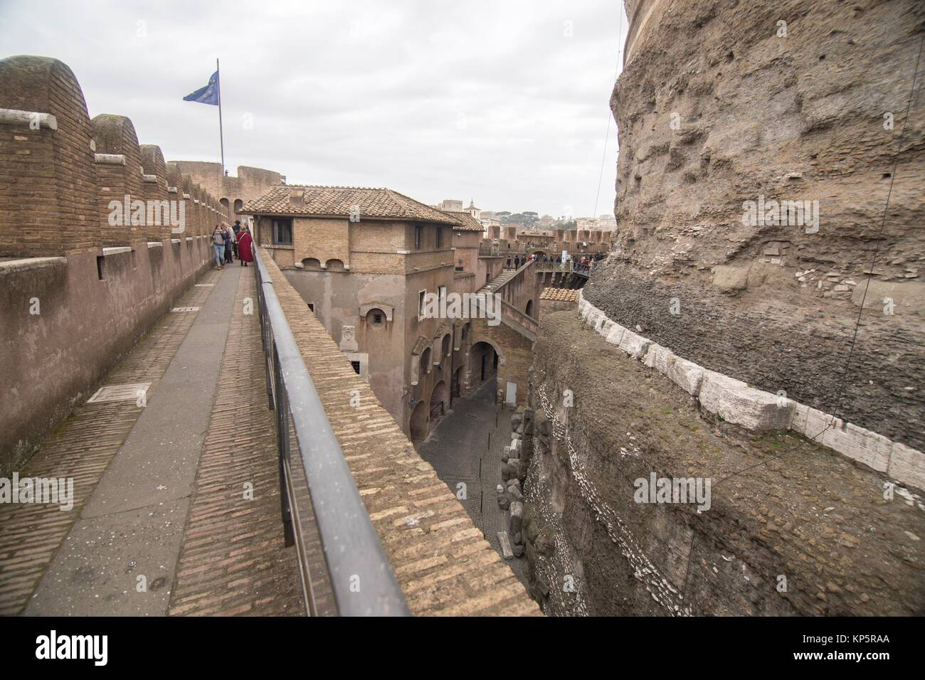 Castle Sant' Angelo in Rome, on February 5, 2017 in Italy. - Stock Image