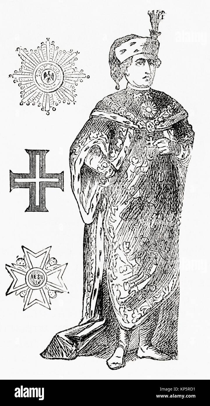 Knight of the Order of St. Stephen. The Order of Saint Stephen, Sacro Militare Ordine di Santo Stefano Papa e Martire, - Stock Image