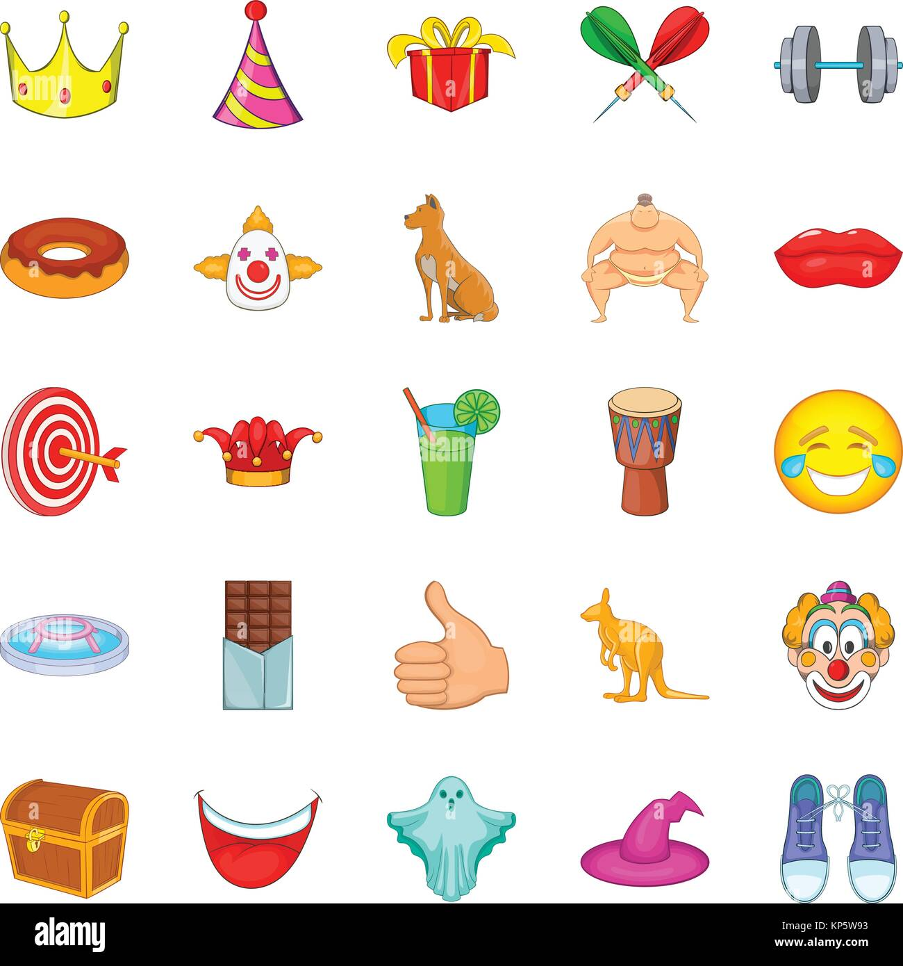 Spectacle icons set, cartoon style - Stock Vector