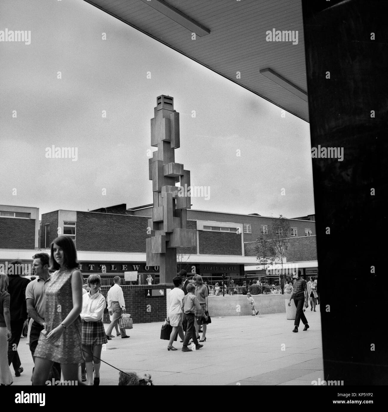 Romford Essex England. Photographed July 1970 but scans made in 2017 Small market town to the east of London embraces - Stock Image