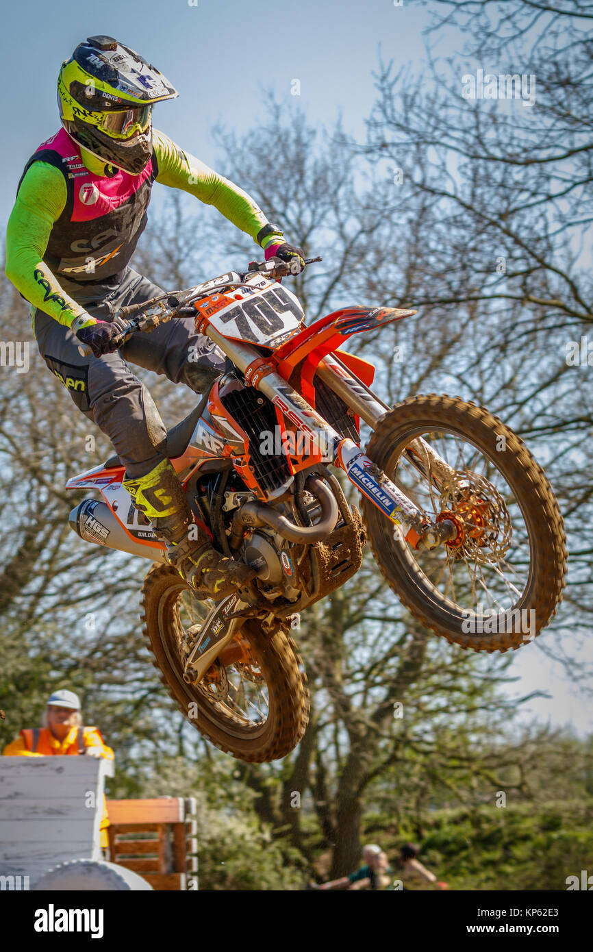 Ashley Wilde on the RFX KTM MX1 at the Maxxis British Motocross Championship, Lyng, Cadders Hill, Norfolk, UK. - Stock Image