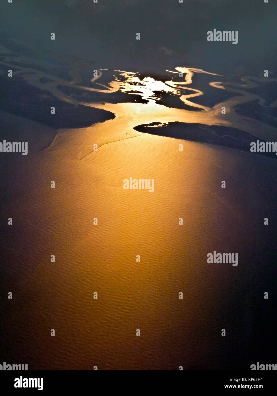 Atlantic coast of the Southern United States at sunset. - Stock Image