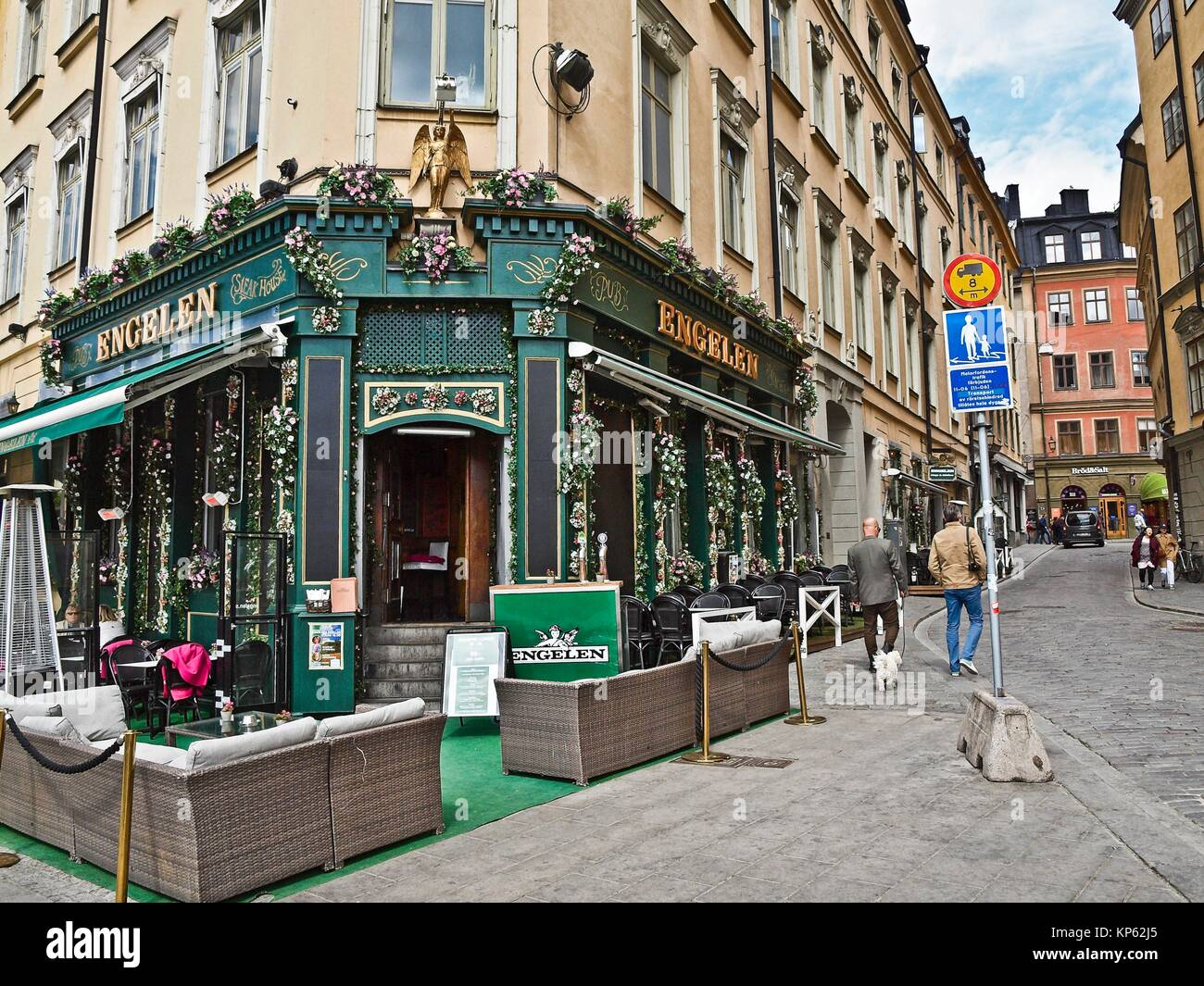 Engelen pub in Gamla Stan, Stockholm, Sweden. - Stock Image