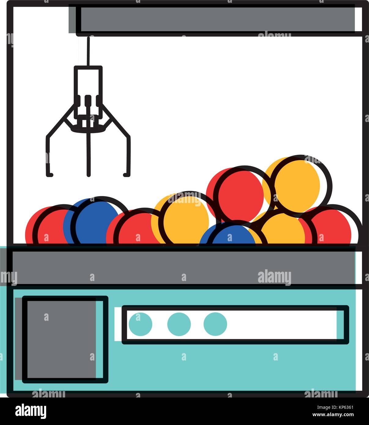 Claw machine design - Stock Image