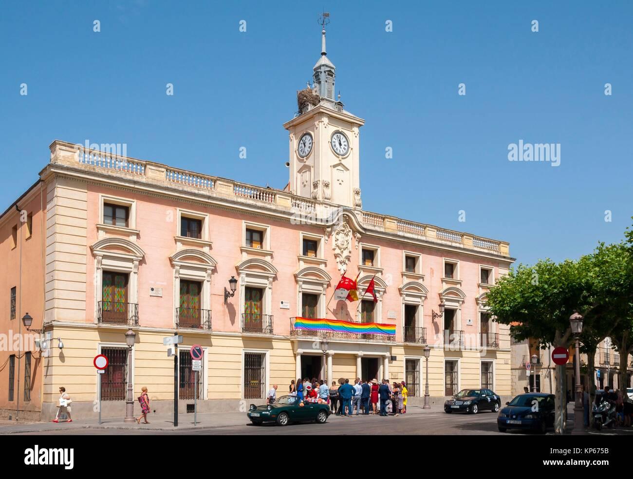Ayuntamiento de Alcalá de Henares. Madrid. World Heritage City. Spain. - Stock Image