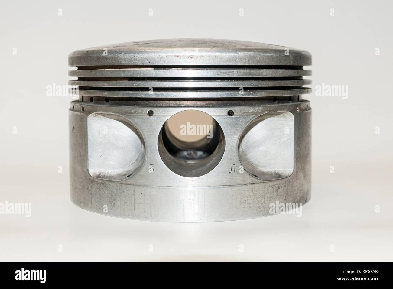 Piston, part of automotive engine - Stock Image