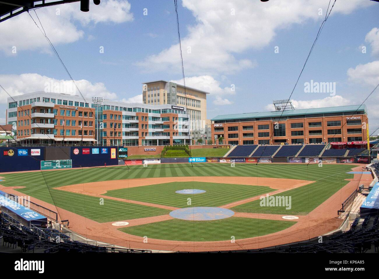 The Durham Bulls Park Stadium, Durham, North Carolina, USA - Stock Image