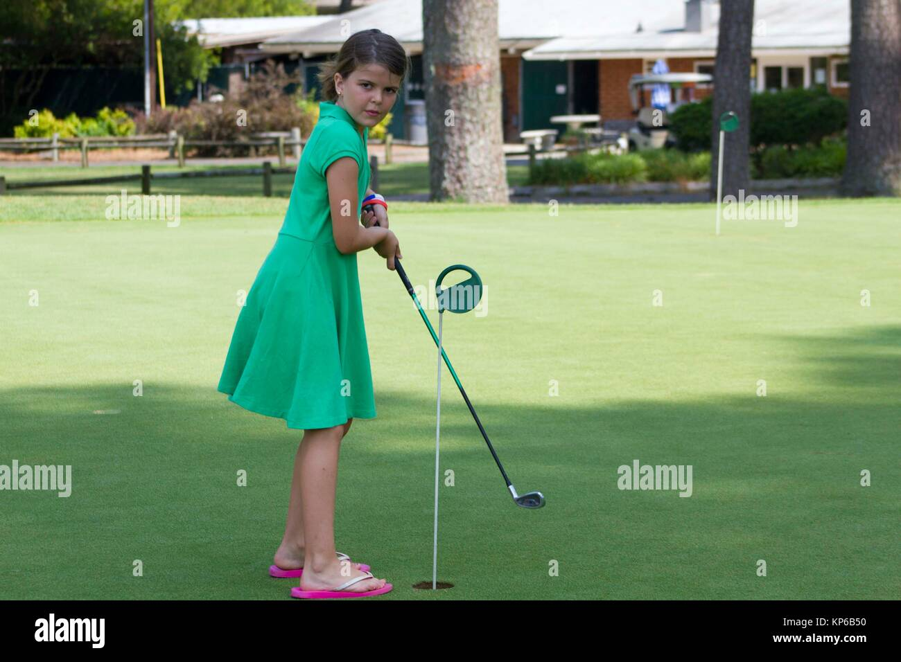 child golf swing stock photos child golf swing stock. Black Bedroom Furniture Sets. Home Design Ideas