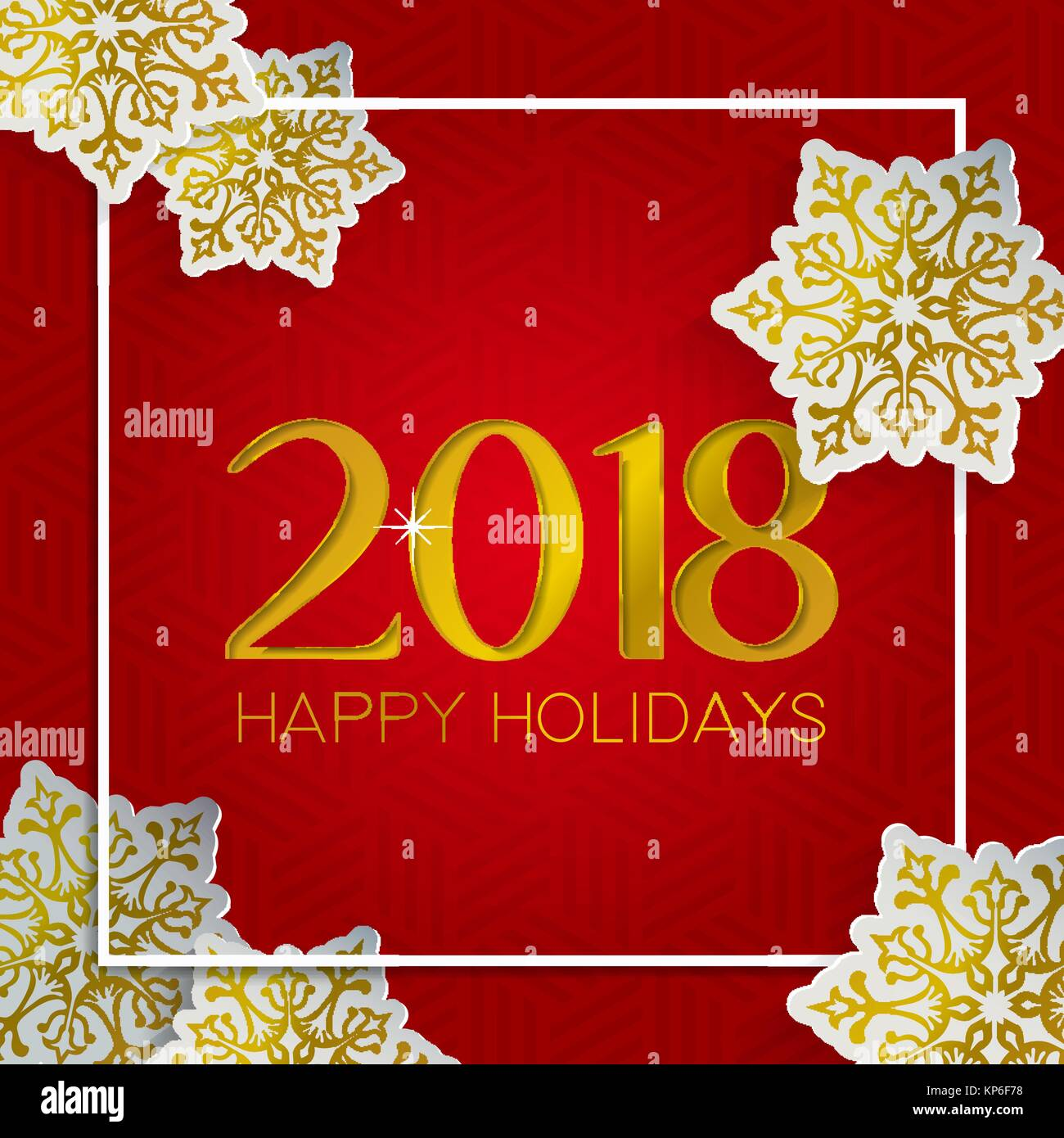 Merry christmas happy new year greeting card number typography and merry christmas happy new year greeting card number typography and holiday quote in luxurious gold color with paper cut snowlfake decoration eps10 v m4hsunfo