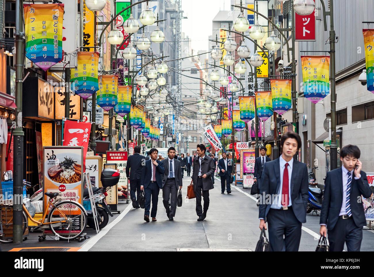 Salaryman Shinbashi - Stock Image