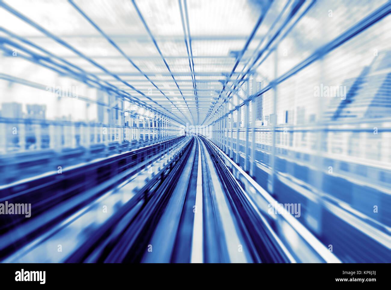 Speeding Train Track - Stock Image