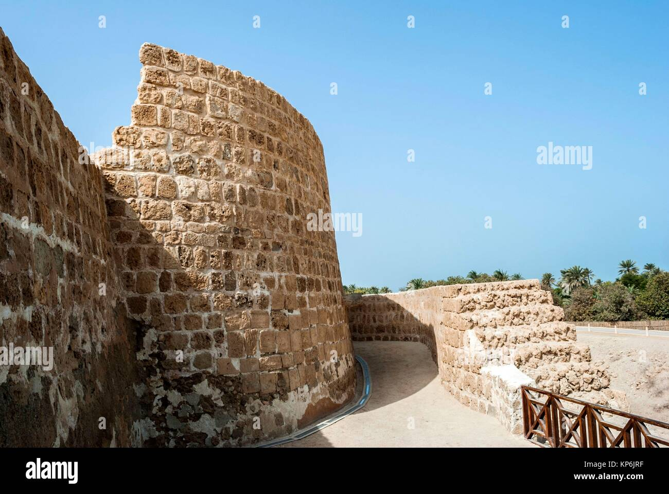 Qal at al-Bahrain (Bahrain Fort, Portuguese Fort). Bahrain, United Arab Emirates. - Stock Image
