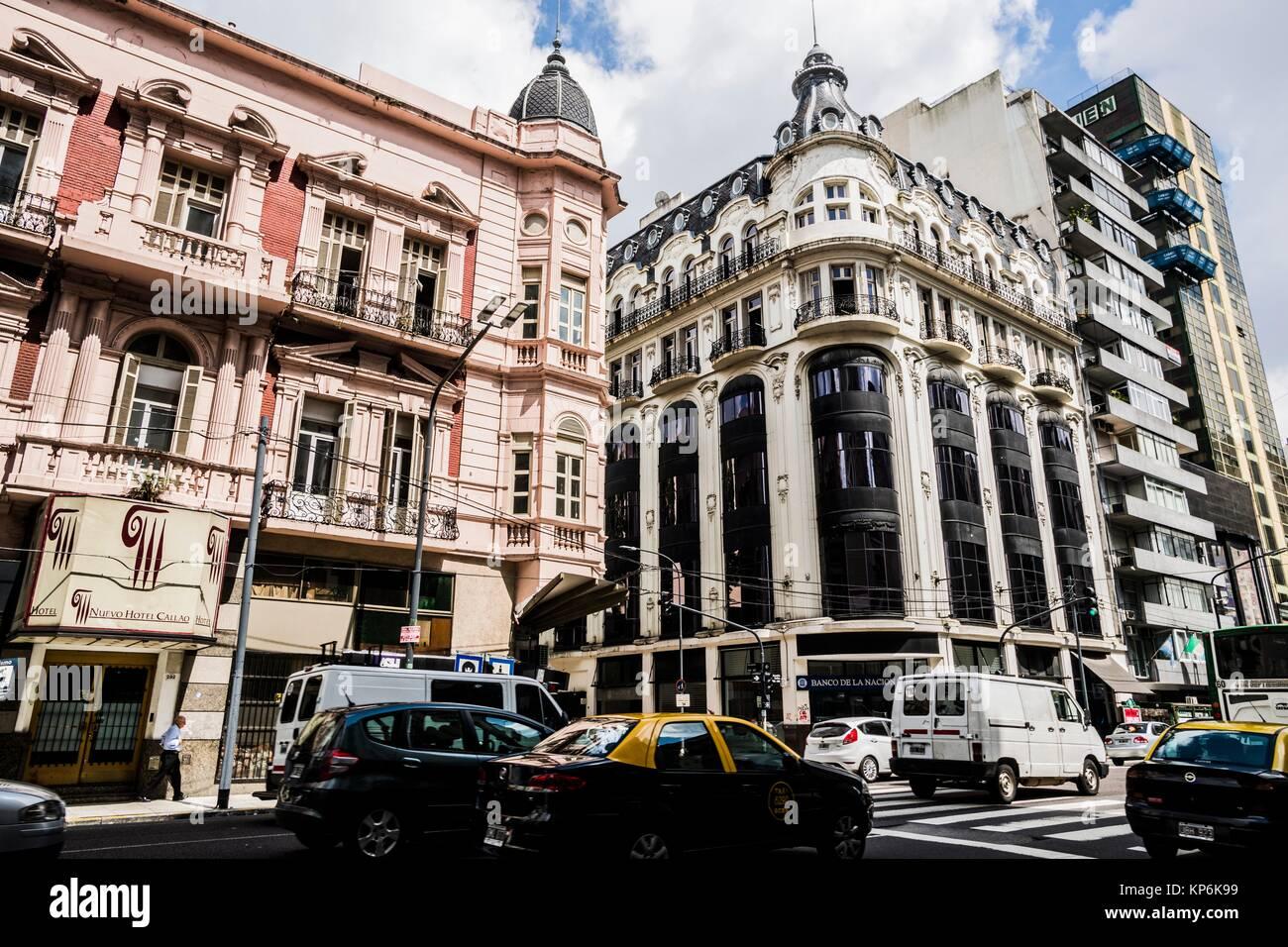 Avenida Callao, downtown (El Centro), Buenos Aires, Argentina, South America. Stock Photo