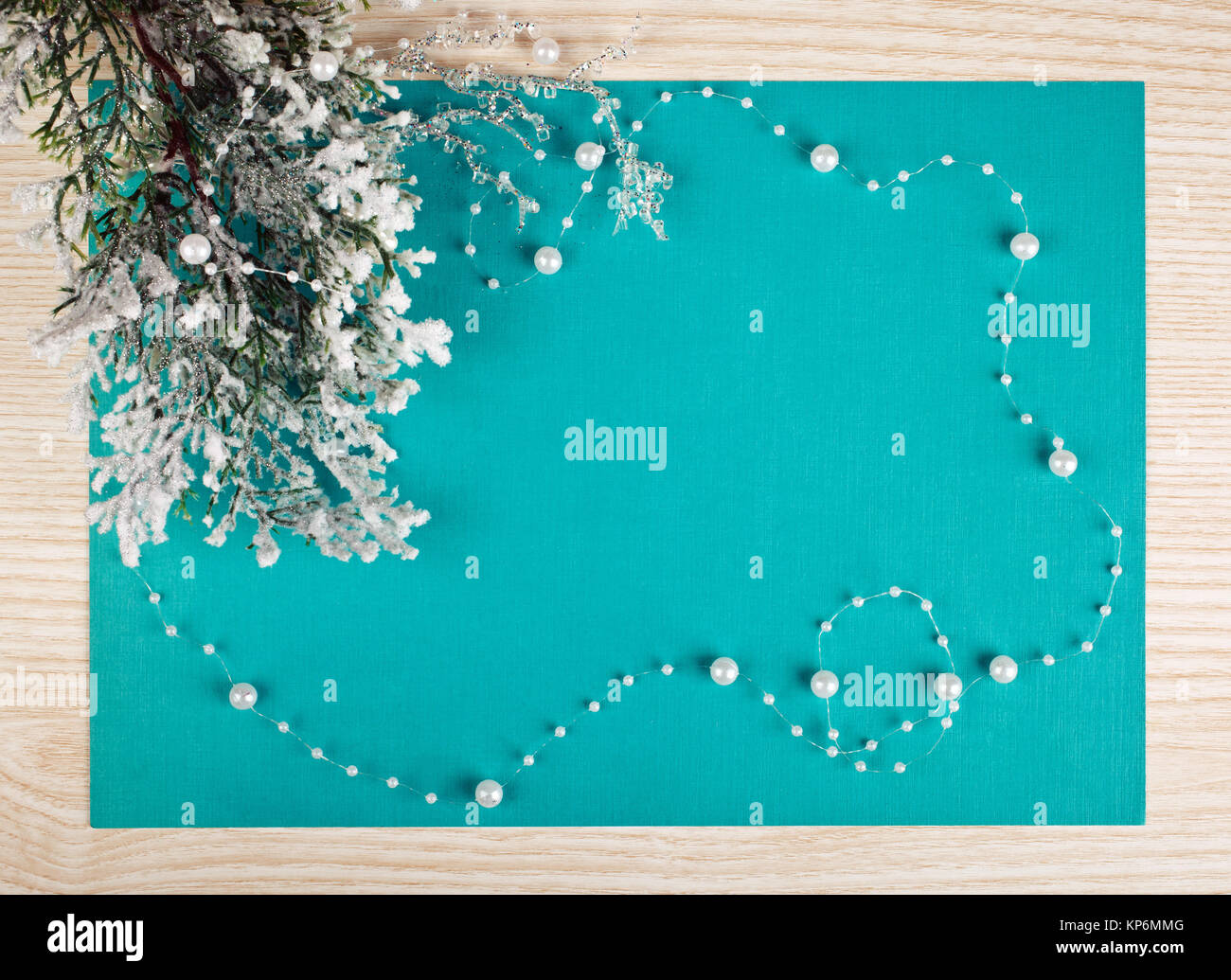 Christmas Decoration frame - Stock Image