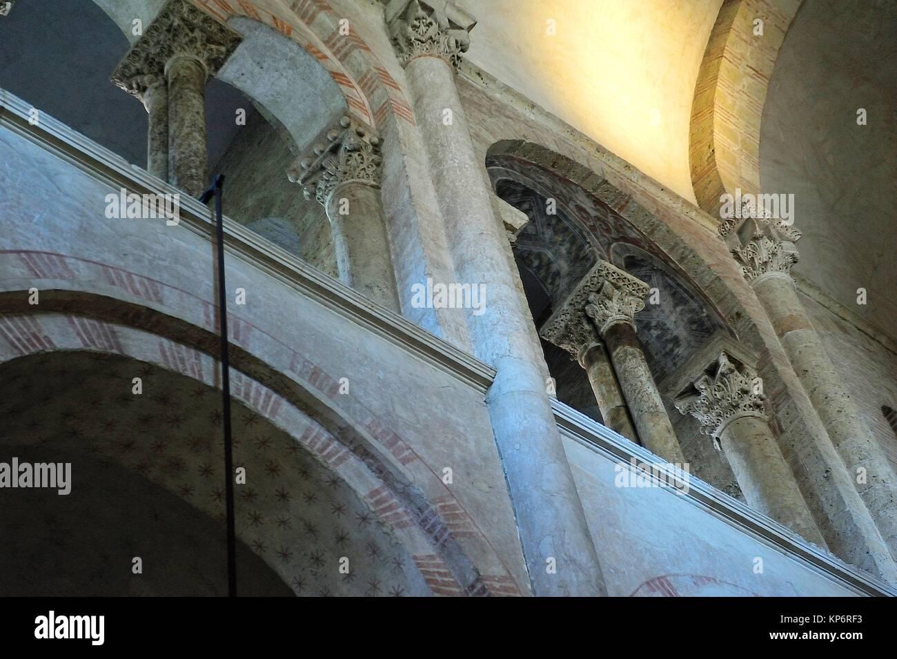 The Romanesque Basilica of Saint-Sernin, XI-XIIth centuries, is a UNESCO World Heritage Site. Toulouse, Haute-Garonne - Stock Image