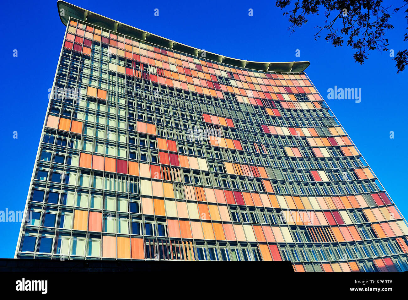 The GSW Hochhaus Building, by Matthias Sauerbruch and Louisa Hutton, 1989. Berlin, Germany - Stock Image