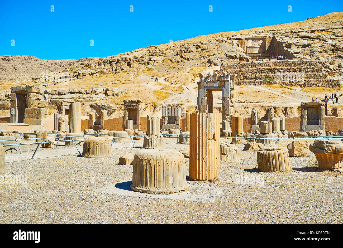 Persepolis is the visit card of Pars province and one of the most famous landmarks of Iran. - Stock Image