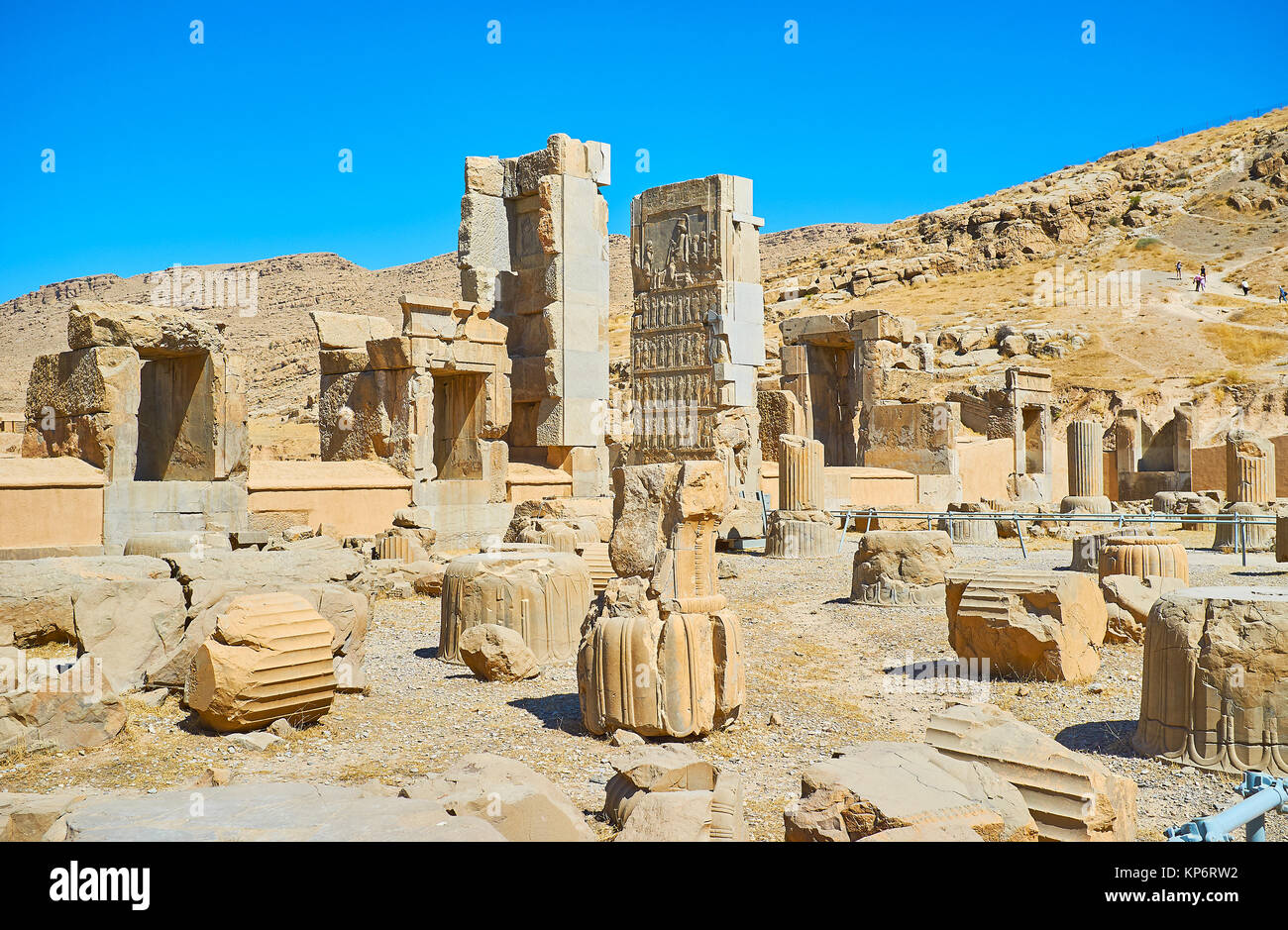Persepolis archaeological site is the best place to discover ancient architecture and art of Persia, Iran. - Stock Image