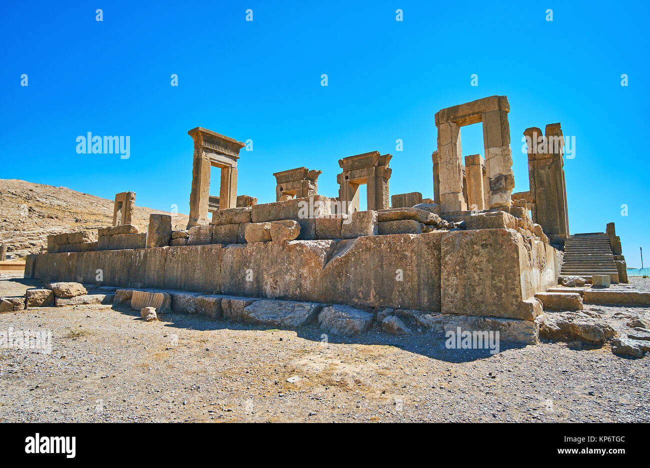 The site of the winter palace of Persepolis, named Tachara, Iran. - Stock Image