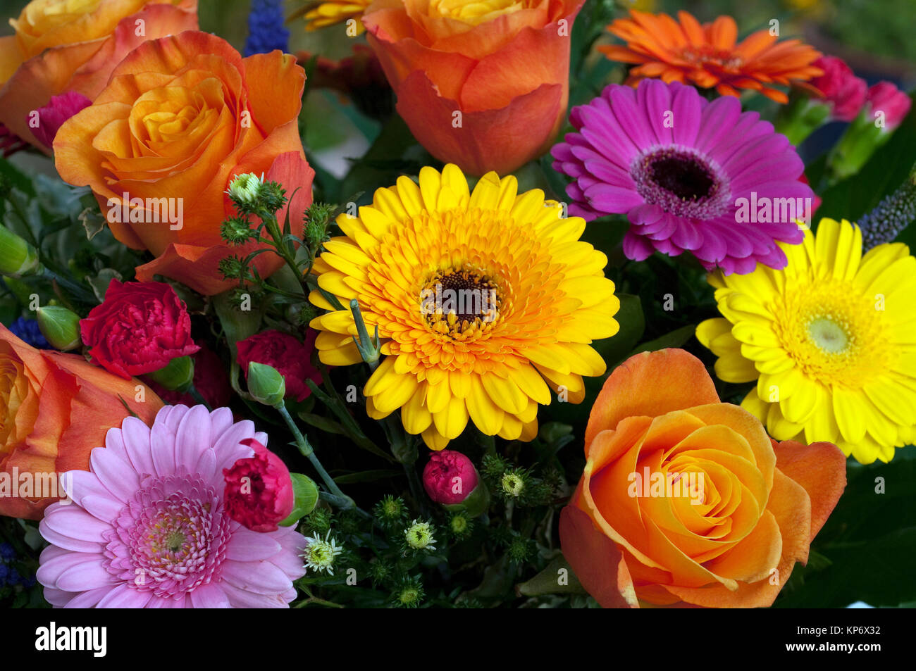 bouquets of flowers,strauss,colorful Stock Photo