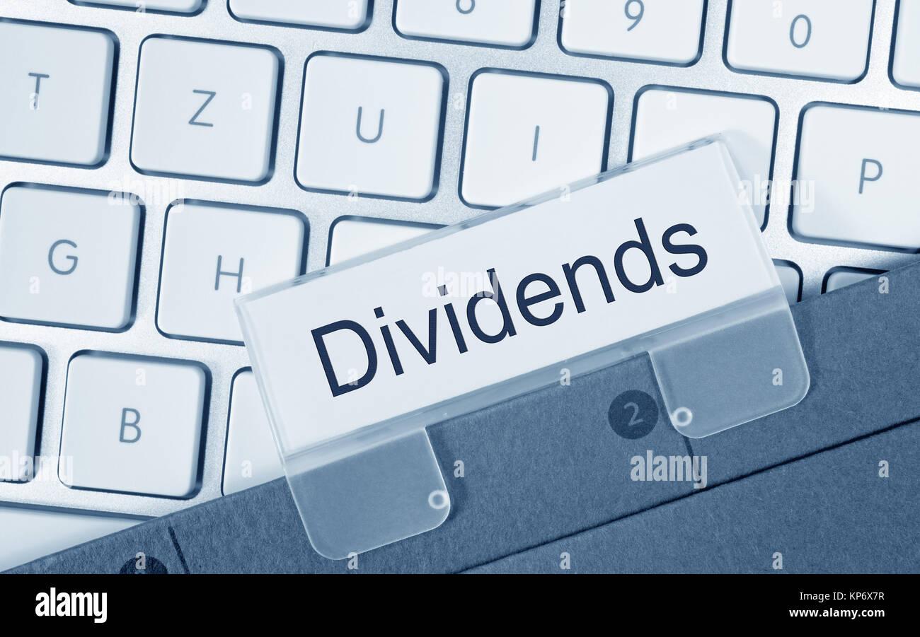 Dividends Folder Register Index - Stock Image