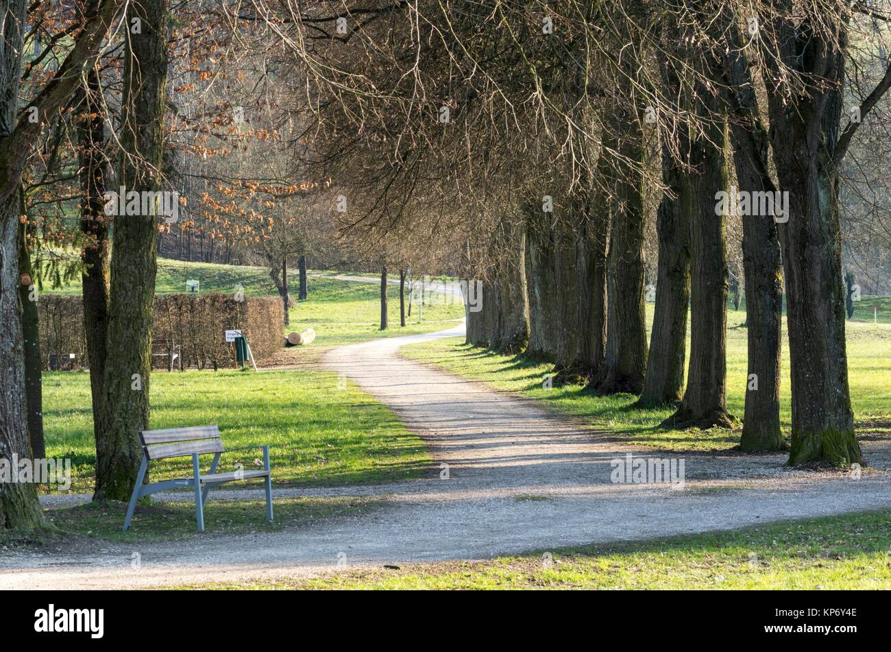 Botanica Park Recreational Area in Early Spring, Bad Schallerbach, Austria - Stock Image