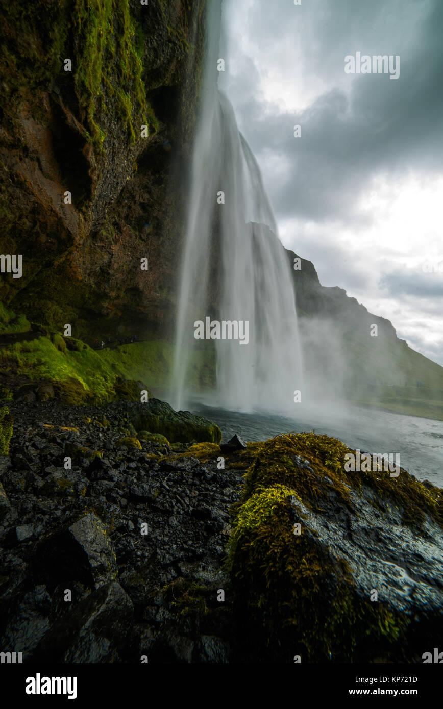 Iceland waterfall - Stock Image
