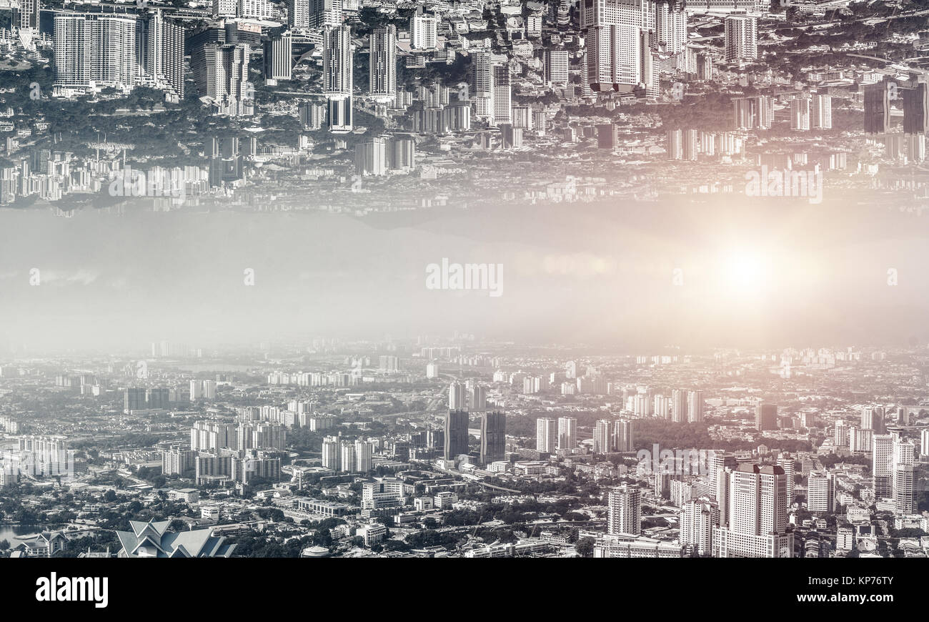 Modern cityscape view. - Stock Image