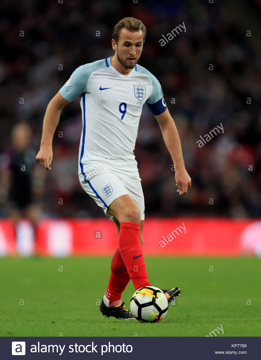 File photo dated 05-10-2017 of England's Harry Kane. PRESS ASSOCIATION Photo. Picture date: Thursday October - Stock Image