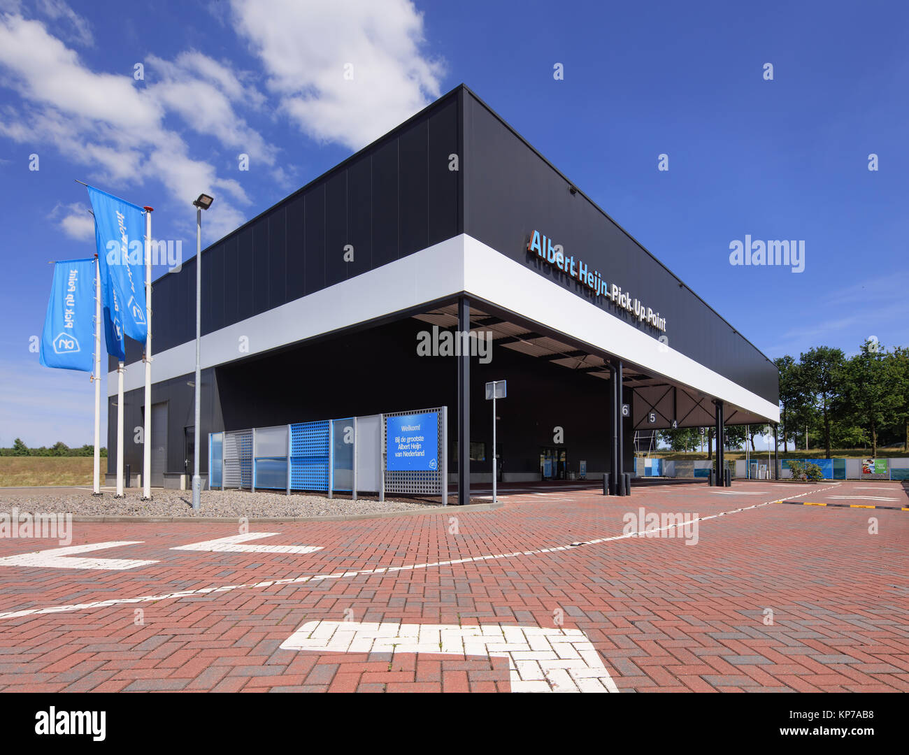 TILBURG-JULY 17, 2017. Albert Heijn Pick Up Point. Most Dutch supermarkets have pick-up service for groceries. Most - Stock Image