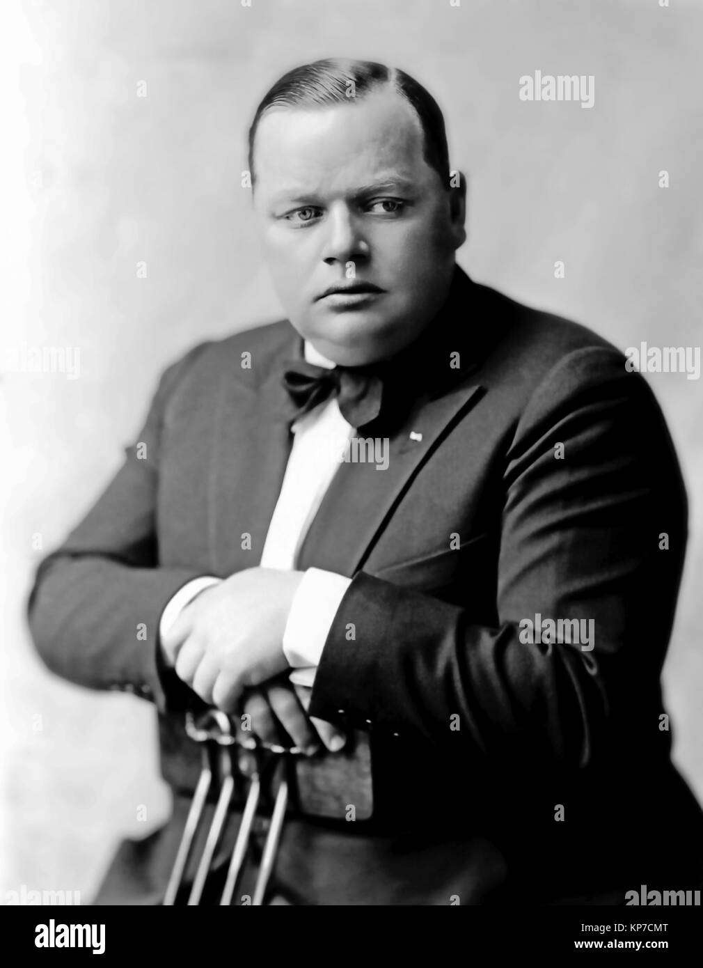 ROSCOE 'FATTY' ARBUCKLE (1887-1933) American film actor and director about 1916 - Stock Image