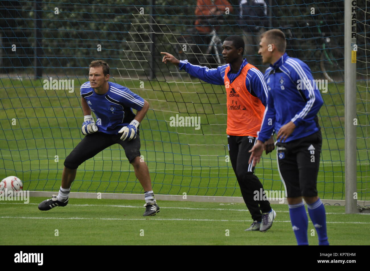 HSV Training, Torwart Frank Rost, Hamburg, Deutschland - Stock Image