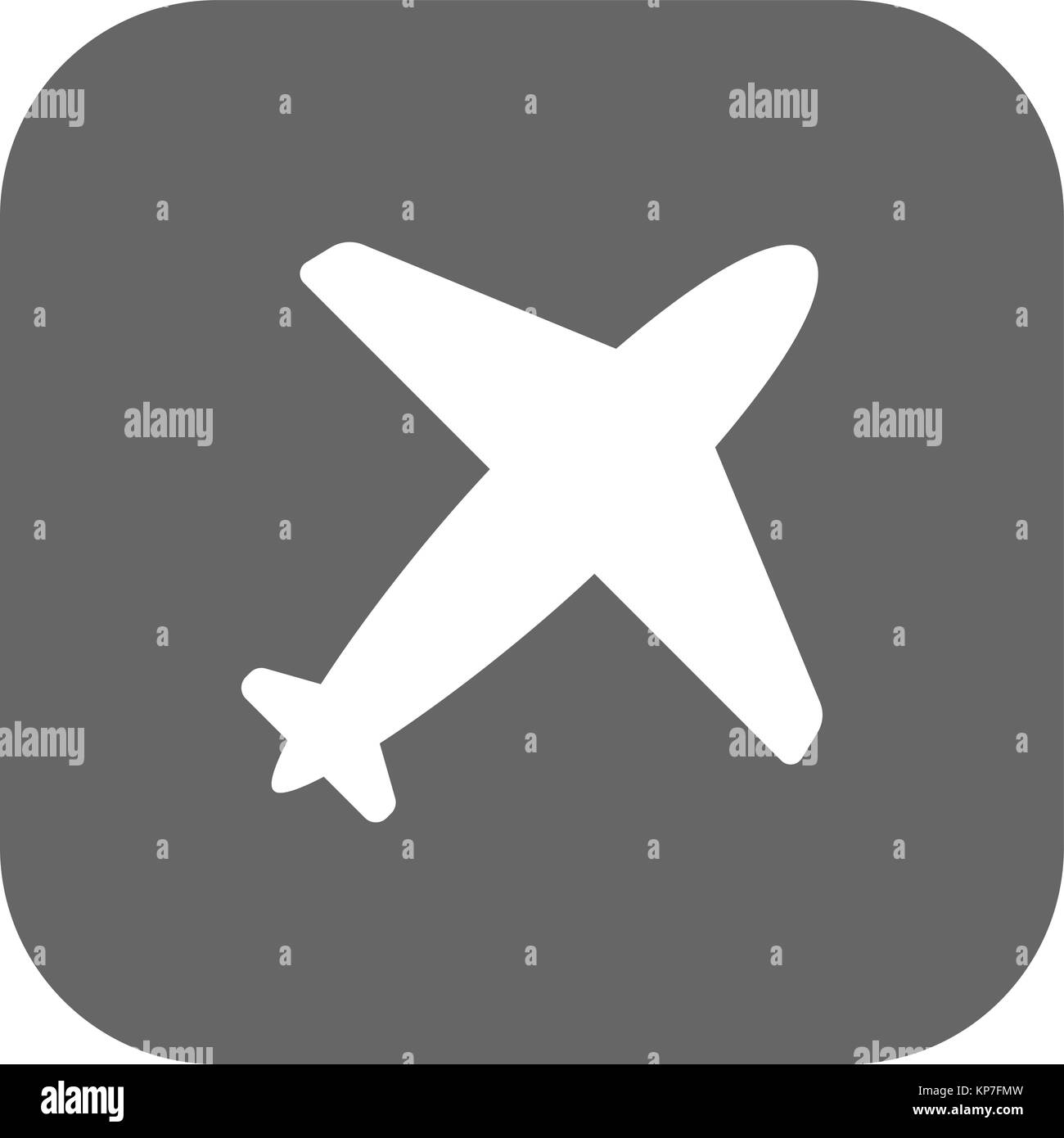Flight Airlines icon dark grey new trendy flat style vector symbol - Stock Image