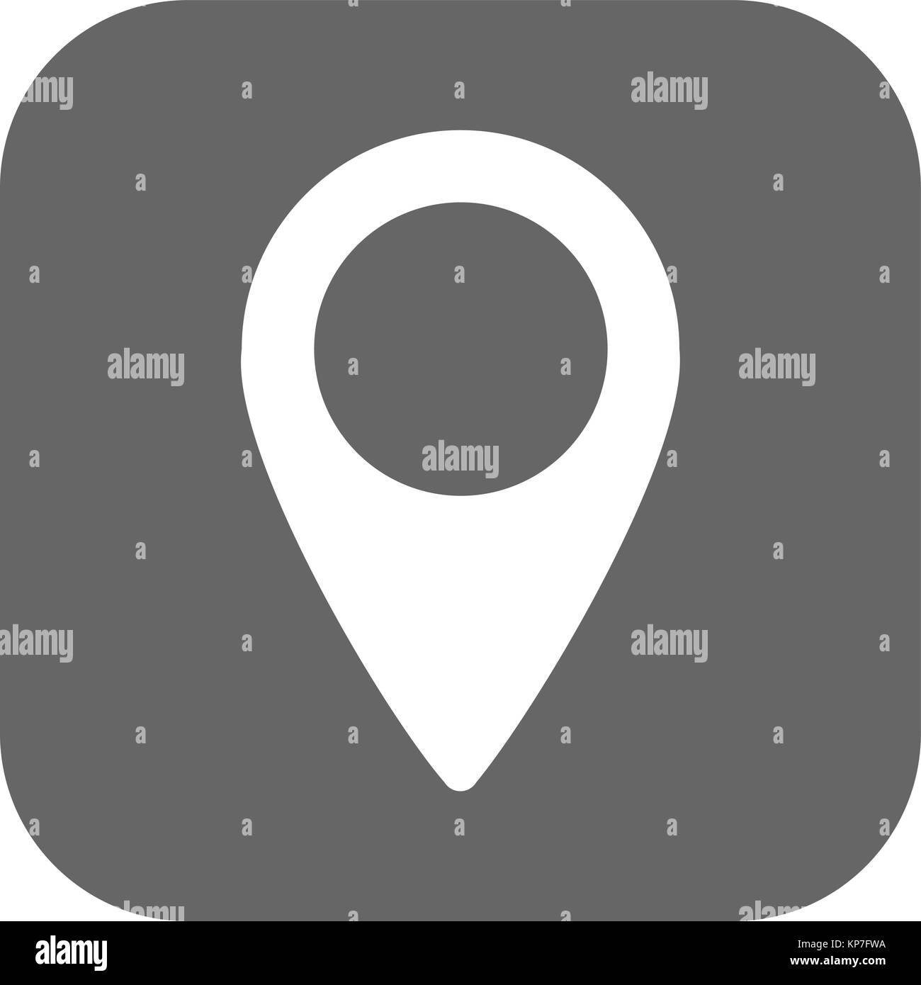 Location icon vector. Sign Isolated on white background. Navigation map, gps, direction, place, compass, contact, - Stock Image