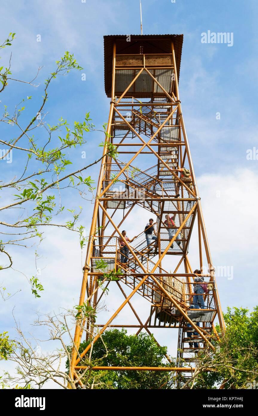 Observation tower, Water House Interpretation and Visitors Center, Centla swamps (Pantanos de Centla) tropical moist - Stock Image