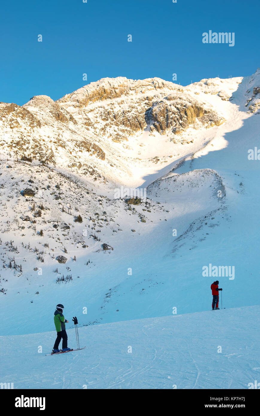 Skier on the mountain slope - Stock Image