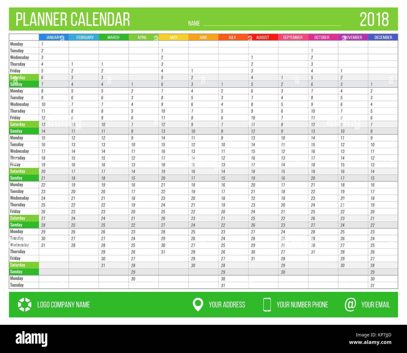 Calendar Planner C : Printable calendar stock photos