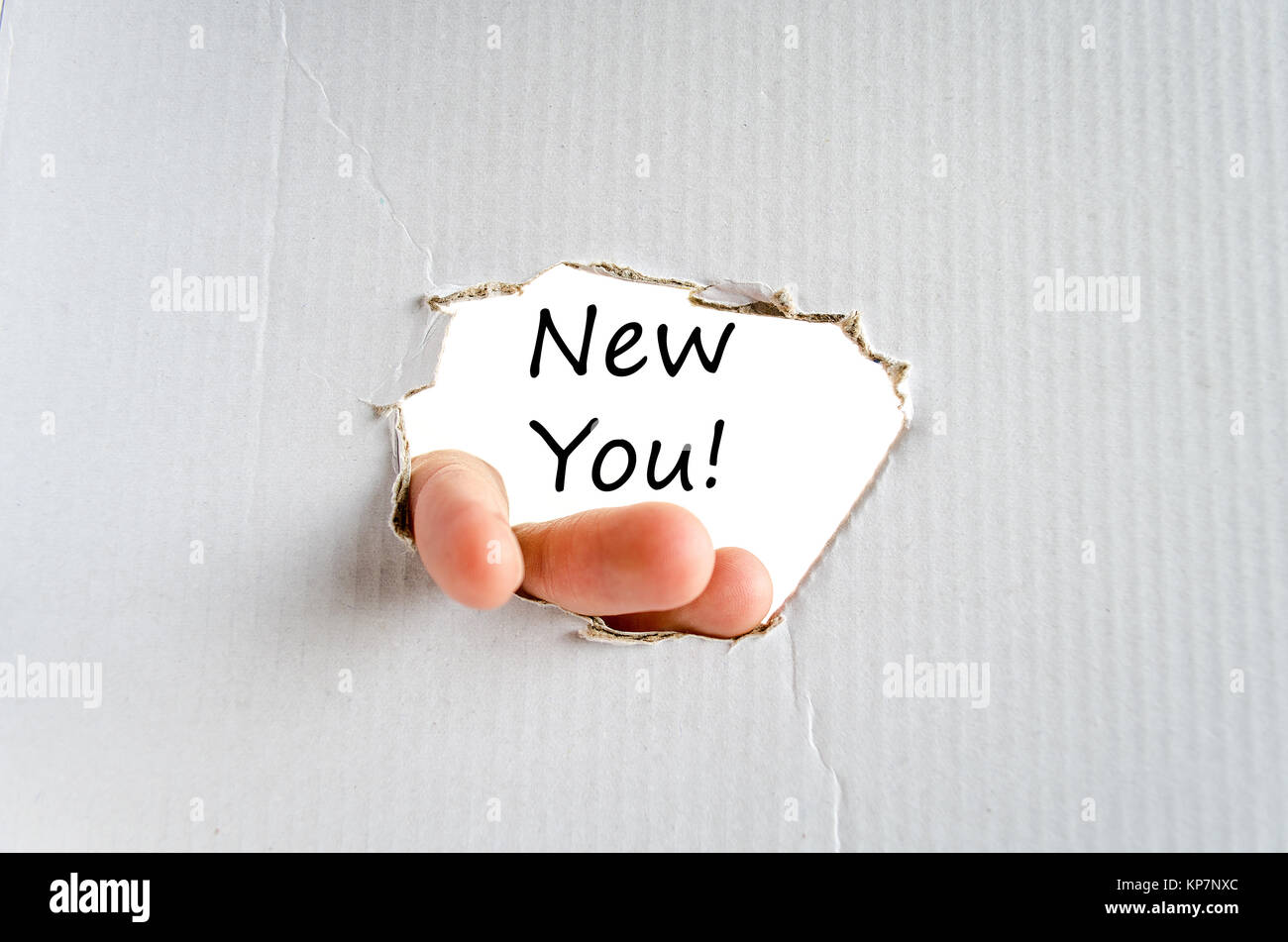 New you text concept - Stock Image