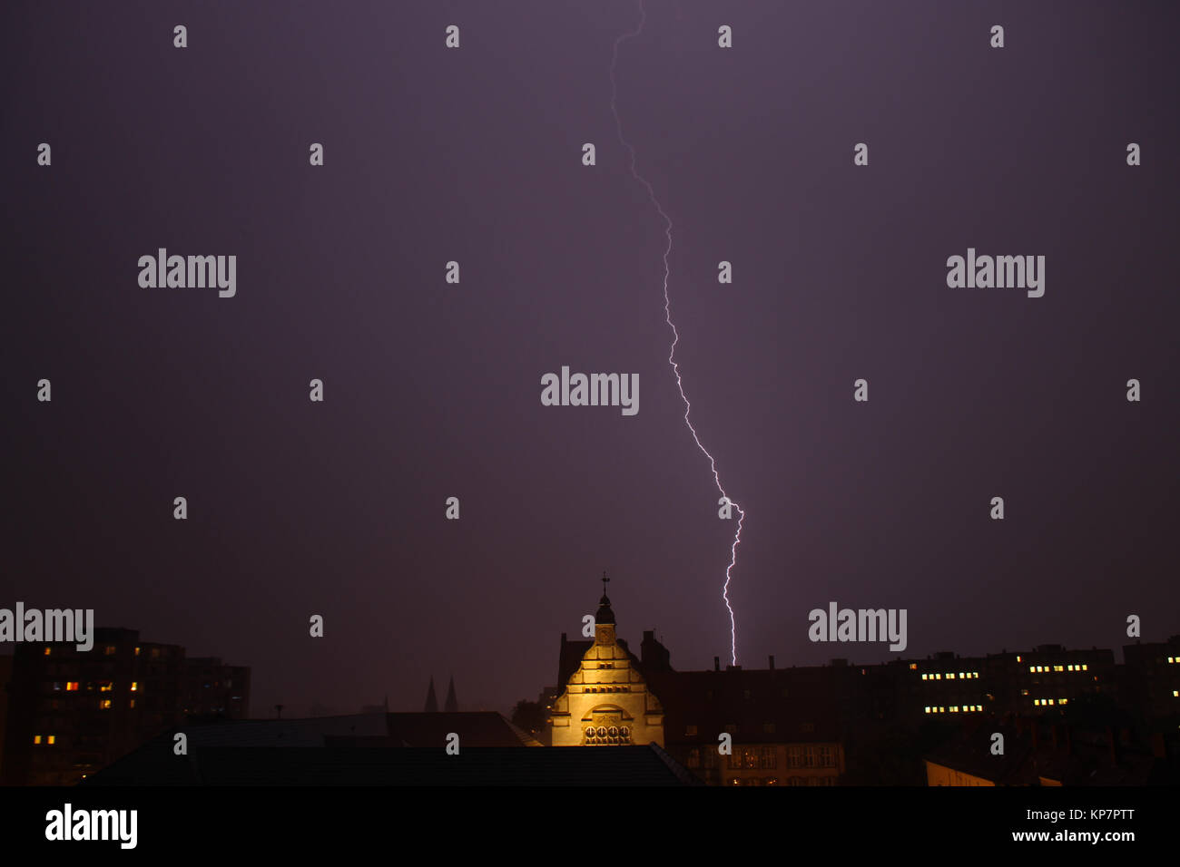 flashes on the horizon - Stock Image