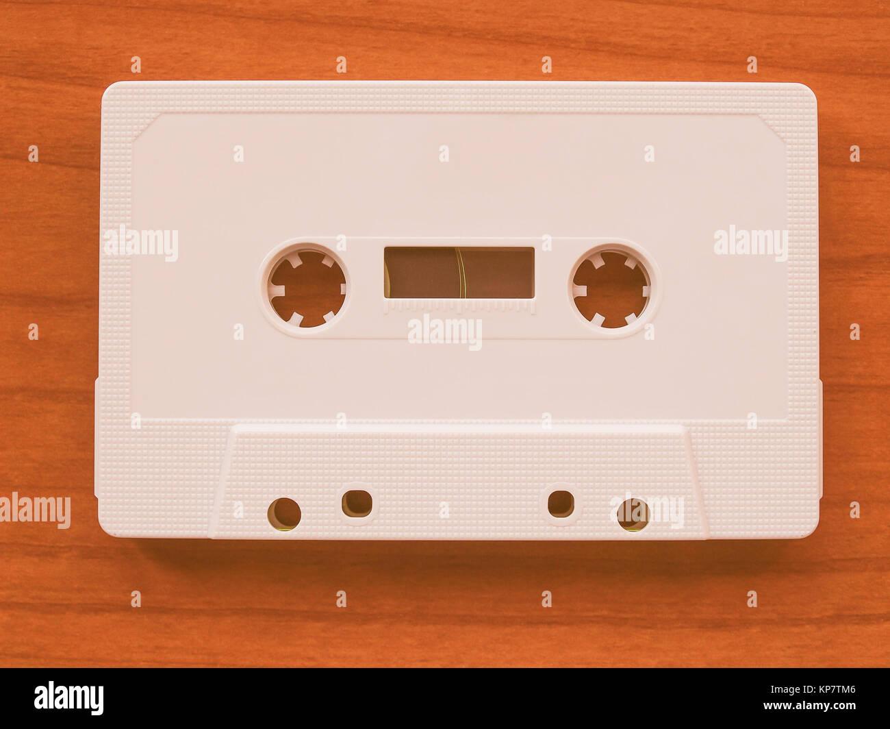 Tape cassette vintage - Stock Image
